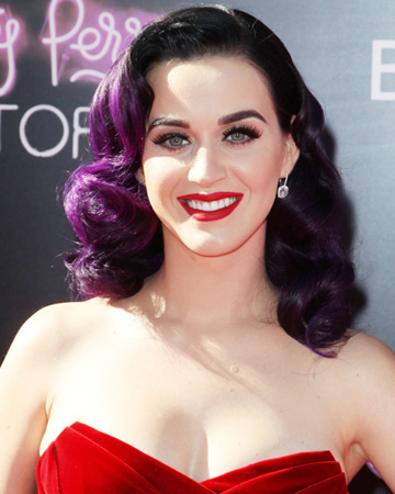 Katy Perry with bold red lips