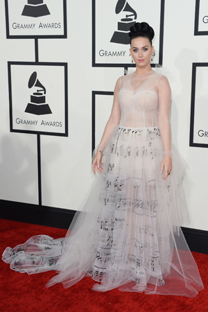 Katy Perry at the 2014 Grammy Awards