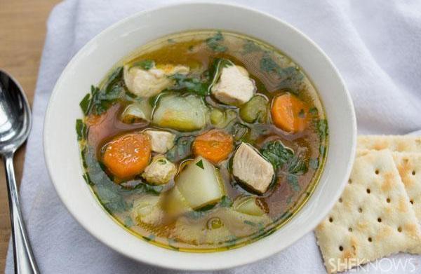 Quick chicken and potato soup