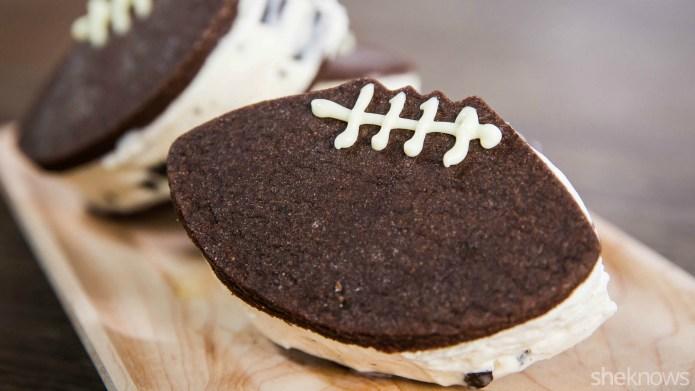 Football ice cream sandwiches — the
