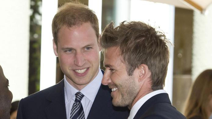 David Beckham joins Prince William to
