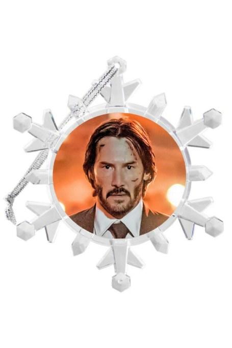 Keanu Reeves/John Wick ornament.