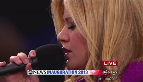Kelly Clarkson at inauguration