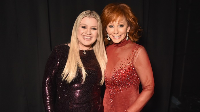 Kelly Clarkson and Reba McEntire attend