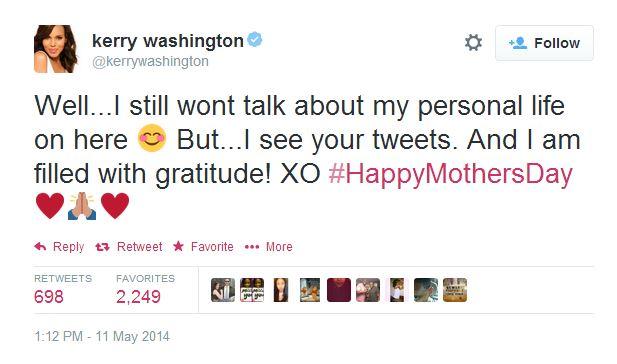 Kerry Washington - baby Isabelle tweet