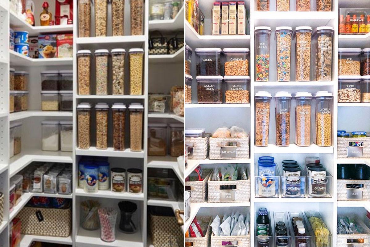 khlo kardashian just updated her kitchen pantry it s. Black Bedroom Furniture Sets. Home Design Ideas