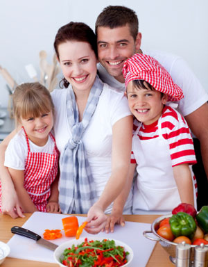 Holiday cooking with the kids