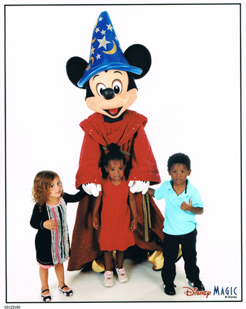 Kids with Mickey