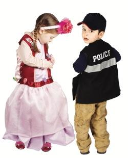 Kids playing dress-up