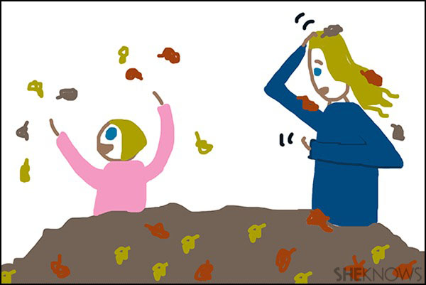 Crappy Pictures - Kids love jumping in leaves