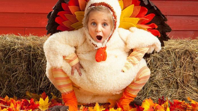 10 Children awkwardly dressed as turkeys