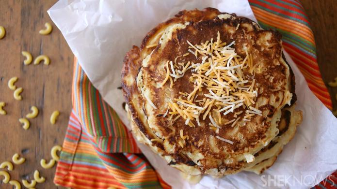 Macaroni and cheese combine to make