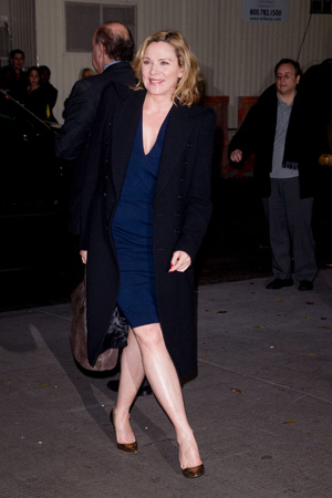 Kim Cattrall at a film premiere