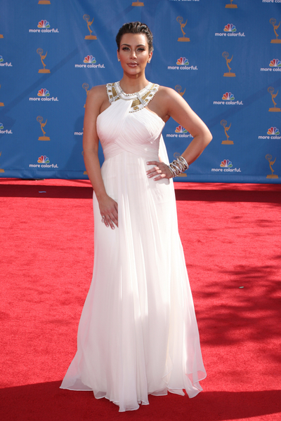 Kim Kardashian at the 2010 Emmys