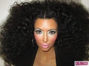 Kim Kardashian channels Diana Ross.