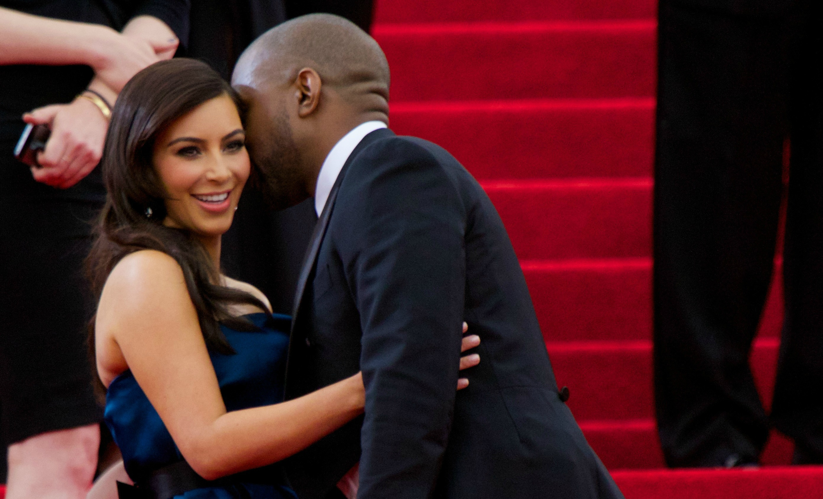 Kim Kardashian flashes underwear en route to Met Gala