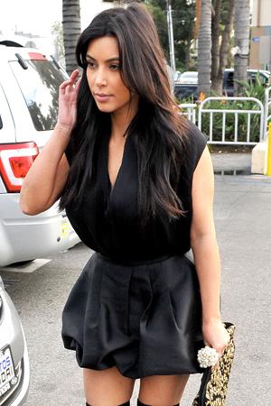 Kim Kardashian shows off a new hairstyle