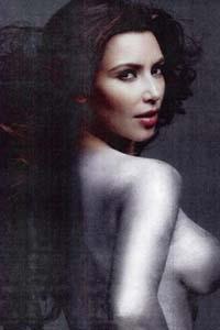 Kim Kardashian W silver paint photo