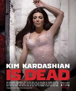 Kim Kardashian in Digital Death Twitter campaign