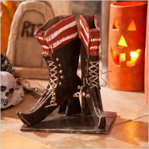 Wooden witch shoes