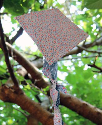 scrap fabric kite