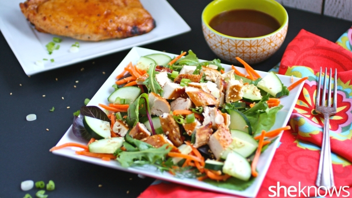 Peking chicken salad puts a twist