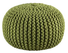 whimsical knitted poufs