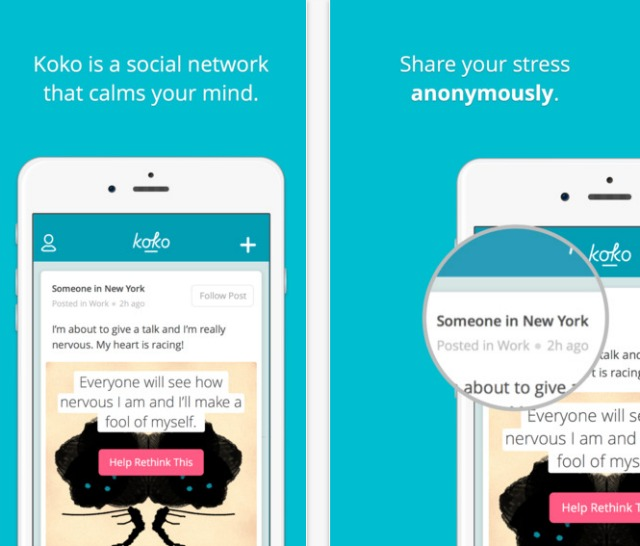Koko social network for anxiety and depression