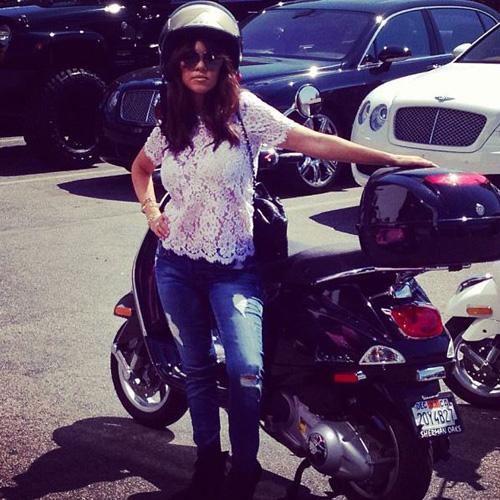 Kourtney Kardashian motorcycle selfie
