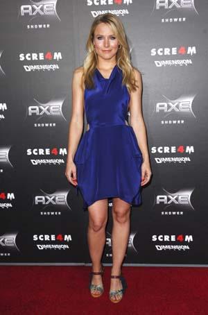 Kristen Bell at the Scream 4 Premiere