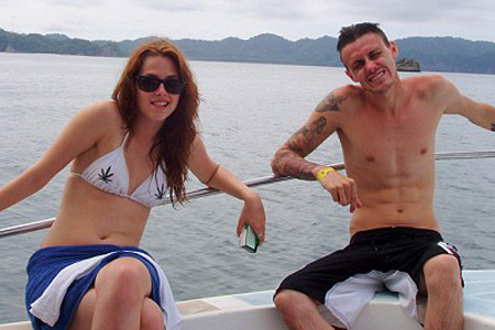Kristen Stewart and brother Cameron