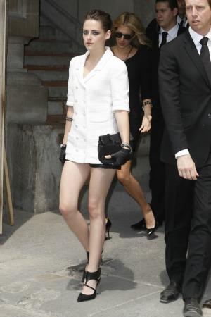 Kristen Stewart at Chanel show during Paris Fashion Week