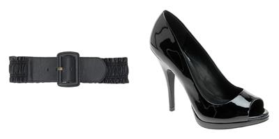 Black-belt-black-peep-toe-shoes