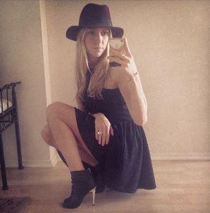 Kristin Cavallari's black booties
