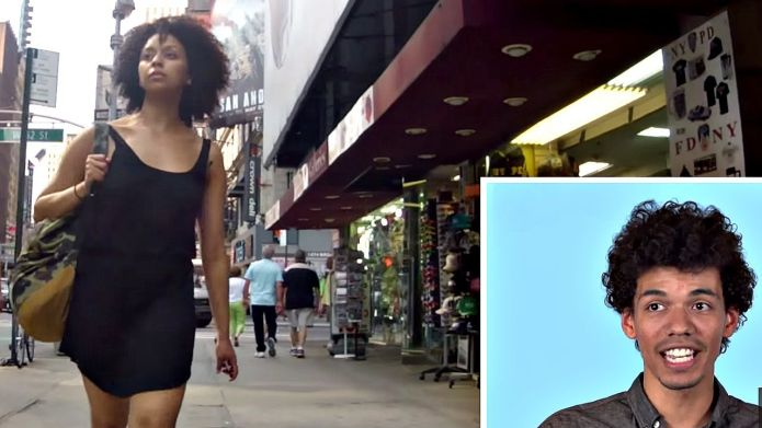 Men watch their girlfriends being catcalled