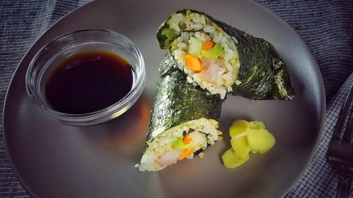 Grilled shrimp sushi burrito recipe, for