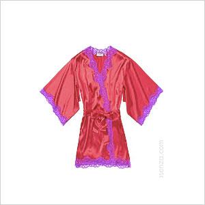 La senza red kimono