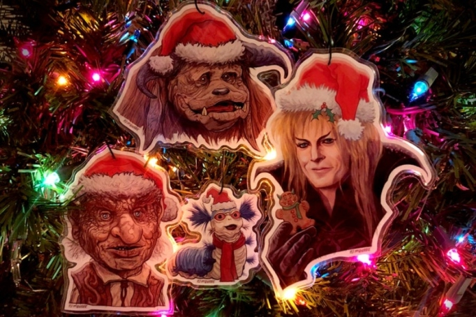 'Labyrinth' set of four ornaments.