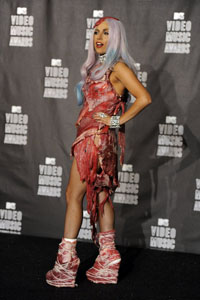Lady Gaga's 2010 MTV VMA meat dress
