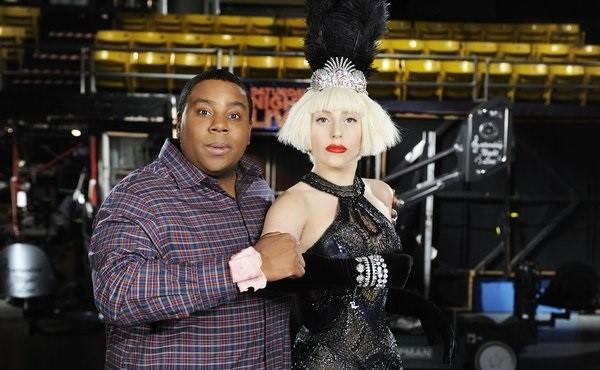 Lady Gaga and Kenan Thompson