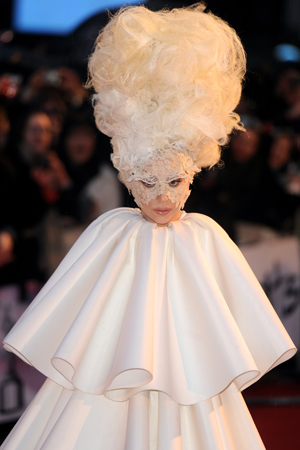 lady gaga craziest hairstyles white wig