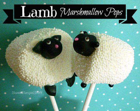 lamb marshmallow pops