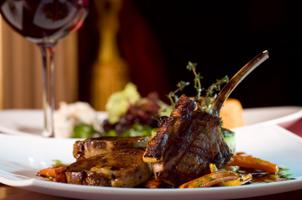 Glazed lamb ribs