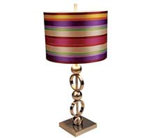 lampshade with ribbon