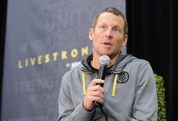 Lance Armstrong speaks at Livestrong.