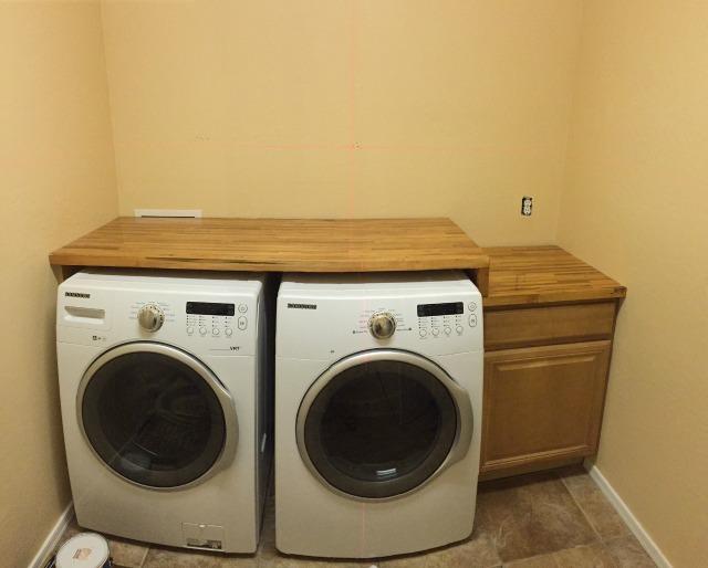 Laundry room renovation - cabinets