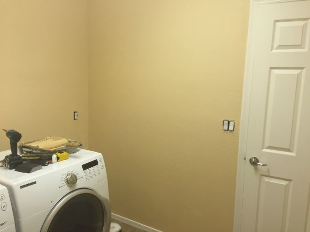 Laundry room renovation during