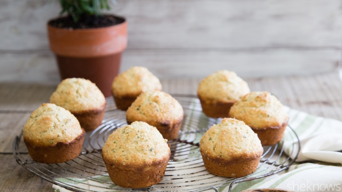 Lavender-infused whole-wheat muffins are a perfect