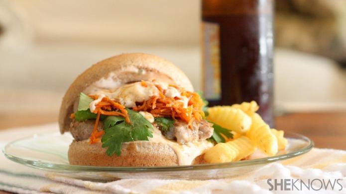 This juicy Korean BBQ turkey burger