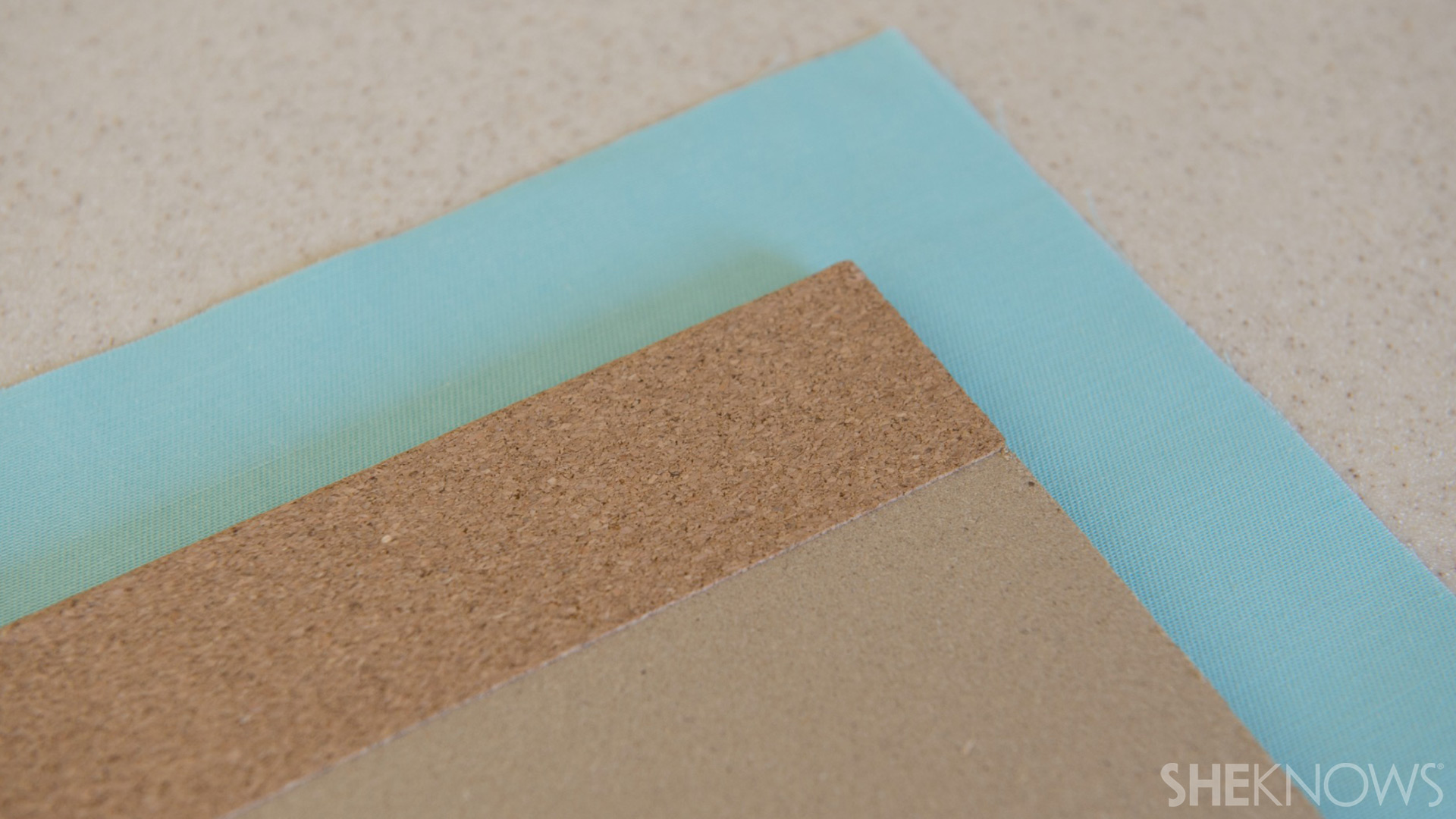 Back to school Bulletin board   Sheknows.com - place corkboard on fabric
